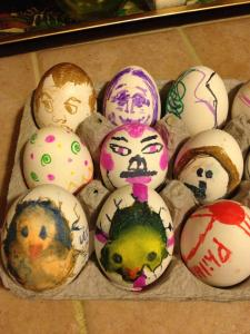 Egg decorating is serious business in my house.