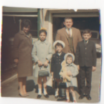 My family - Guess the year! (I'm the one in the sailor coat and hat).